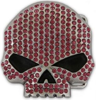 Harley Davidson Women's Collector Belt Buckle Willie G Skull. W10088 PNK: Apparel Accessories: Clothing