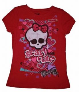 "Monster High ""Scary Cute"" T shirt for Girls (6/6x, Pink) Fashion T Shirts Clothing"