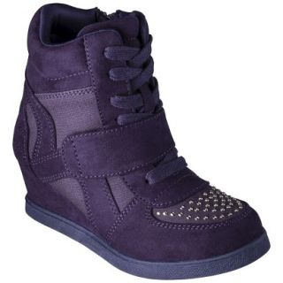 Girls Cherokee Harmony High Top Sneaker Wedge   Purple 1