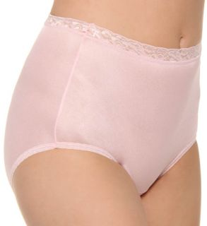 Hanes P570 Nylon Brief Panty   5 Pack