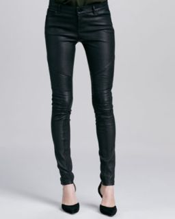 Moto Leather Pants, Black   Vince
