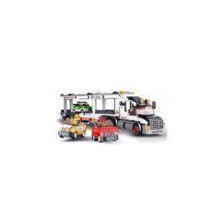 SLUBAN CITY SCENE TRUCK 638 PIECE SET LEGO COMPATIBLE: Toys & Games