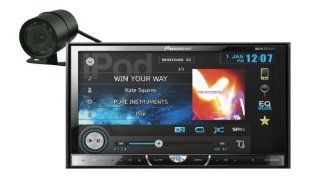 "Pioneer AVH X5500BHS In Dash 7"" LCD Touchscreen DVD//USB Car Stereo Receiver w/ Bluetooth, HD Radio (FREE REAR VIEW CAMERA)"