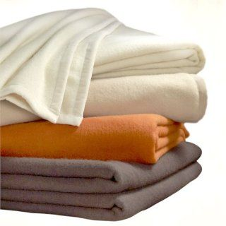 Washable Wool Blnd Blanket Burnt Orange  King   Bed Blankets