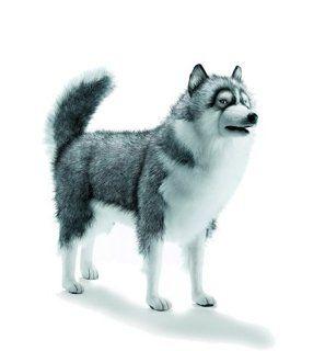 HANSA   HUSKIE DOG Life Sz Gray 5045 Toys & Games