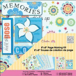 me & my BiG Ideas Scrapbook Page Making 8 Inch X8 Inch  Chester/Blue   Scrapbook Kits
