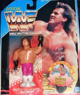 WWE WWF Hasbro Brutus the Barber Beefcake MOC Carded US American Series 2 Card Toys & Games
