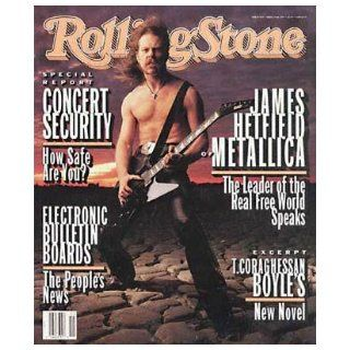 Rolling Stone Magazine, Issue 654, April 1993, James Hetfield of Metallica Cover Jann S Wenner Books