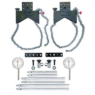 Starrett S668CZ Shaft Alignment Clamp Set With Fitted Case Depth Gauges Industrial & Scientific