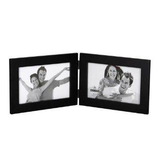 Malden 673 46DH 4x6 black wood double horizontal ready made frame   Wall Clocks