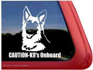 Caution   K9's Onboard ~ German Shepherd Dog Vinyl Window Decal Sticker: Automotive