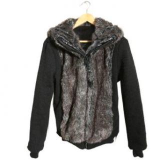 Men's Faux Rabbit Fur Motorcycle Blazer Winter Top Coat Outerwear Pieced Hoodie, M, B at  Men�s Clothing store