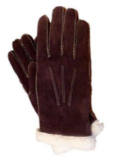 Isotoner Womens Stitched Brown Suede Gloves With Sherpasoft Lining at  Women�s Clothing store