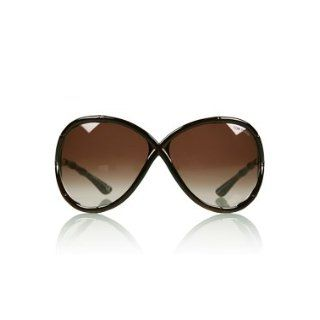 TOM FORD SIMONE TF74 692 DARK BROWN FRAME BROWN GRADIENT LENS PLASTIC SUNGLASSES Clothing