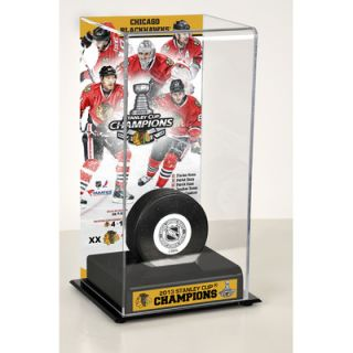 Mounted Memories NHL 2013 Stanley Cup Champions Logo Deluxe Puck
