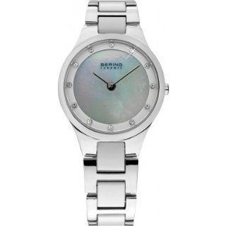 Bering Time 32327 701 Ladies Ceramic Silver Watch: Watches