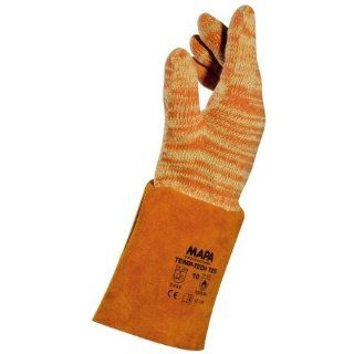 """MAPA Temp Tech 725 Cotton Heavyweight Glove, High Temperature, 14"""" Length, Size 10, Orange (Bag of 6 Pairs) Safety Gloves Industrial & Scientific"""