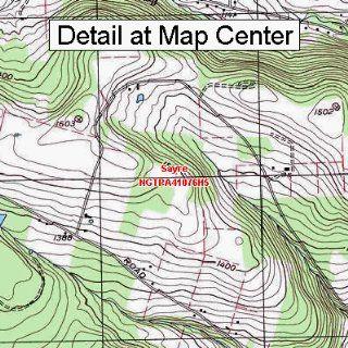 USGS Topographic Quadrangle Map   Sayre, Pennsylvania (Folded/Waterproof)  Outdoor Recreation Topographic Maps  Sports & Outdoors