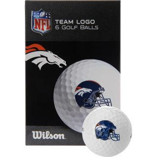 WILSON Denver Broncos Golf Balls   6 Pack, White