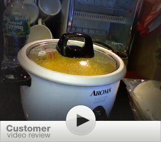 Aroma ARC 733G 3 Cup Rice Cooker & Food Steamer Kitchen & Dining