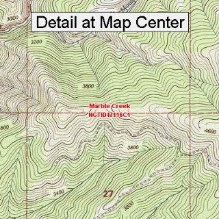 USGS Topographic Quadrangle Map   Marble Creek, Idaho (Folded/Waterproof)  Outdoor Recreation Topographic Maps  Sports & Outdoors