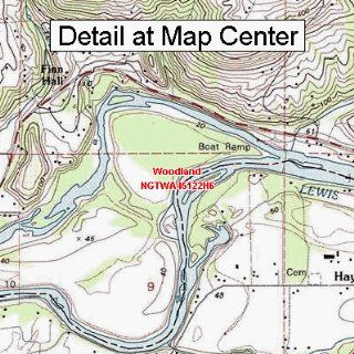 USGS Topographic Quadrangle Map   Woodland, Washington (Folded/Waterproof)  Outdoor Recreation Topographic Maps  Sports & Outdoors