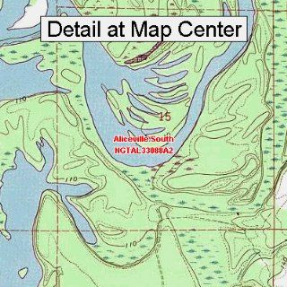 USGS Topographic Quadrangle Map   Aliceville South, Alabama (Folded/Waterproof)  Outdoor Recreation Topographic Maps  Sports & Outdoors