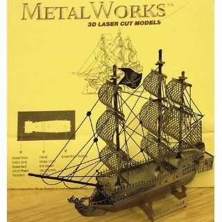 Metal Works The BLACK PEARL Pirate Ship 3D Laser Cut Model puzzle replica: Toys & Games