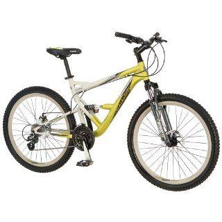 Mongoose 26 inch Status 3.0 Full Suspension Bike   Mens  Silver/Yellow Toys & Games