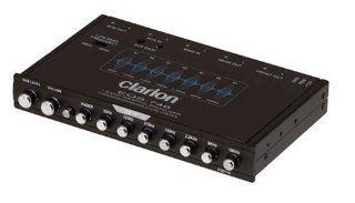Clarion EQS746 1/2 DIN Graphic Equalizer with Built in Crossover : Vehicle Equalizers : Car Electronics