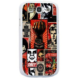 S3OBEY 04W for Samsung Galaxy S3 S III SGH I747 I9300 Pop Art Obey Wallpaper Styles Snap on Hard Case Back Cover With ke Logo: Cell Phones & Accessories