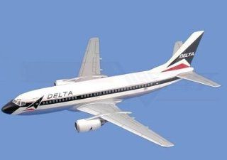 Boeing 737 300,� Delta Airlines Airplane Model Toy. Mahogany Wood Model Aircraft Scale 1/75 Toys & Games