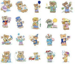Embroidery Machine Designs CD TEDDY BEARS 3