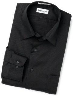 Van Heusen Regular Fit Poplin Men's Dress Shirt Black Tall 18 36/37 at  Men�s Clothing store