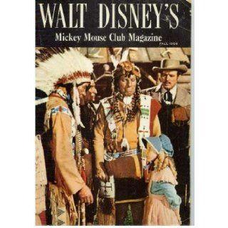 """WALT DISNEY'S """"MICKEY MOUSE CLUB MAGAZINE"""" Fall 1956 (Cover photo of Karen Pendleton and Iron Eyes Cody): Walt Disney: Books"""