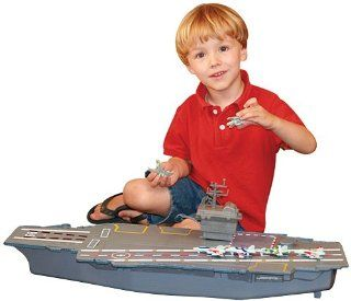 """Mighty Mac   Electronic Giant 31"""" Aircraft Carrier with 6 Aircraft Toys & Games"""