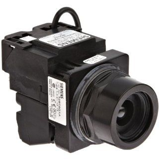 Siemens 52BT6GNA Heavy Duty Push To Test Pushbutton, Water and Oil Tight, Illuminated, Transformer, 755 Type Lamp or 6V LED, No Operating Head, 1NO   1NC Contact Blocks, 120VAC Voltage Electronic Component Pushbutton Switches Industrial & Scientific