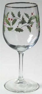 Lenox China Holiday (Dimension) 10 Oz Glassware Goblet, Fine China Dinnerware: Kitchen & Dining