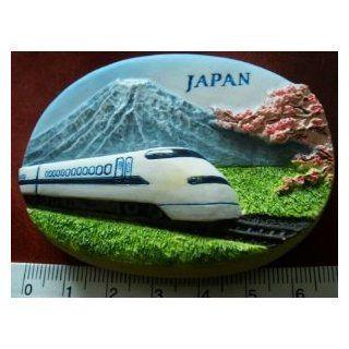 Japanese Bullet Train Mount Fuji Japan High Quality Resin 3D fridge Refrigerator Thai Magnet Hand Made Craft Kitchen & Dining