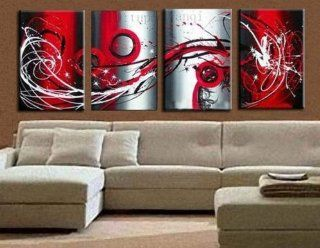 Hand Painted Canvas Art Large Oil Painting 4 Piece Wall Art Group Painting Modern Art Unframed and Unstretched