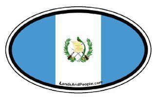 Guatemala Flag Car Bumper Sticker Decal Oval Automotive