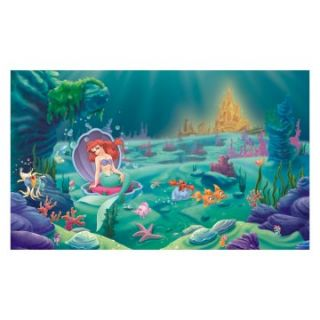 RoomMates Disney Littlest Mermaid Chair Rail Mural   Kids and Nursery Wall Art