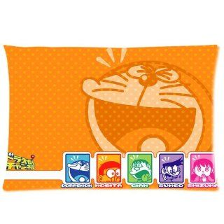 Custom Doraemon Pillowcase Standard Size 20x30 Cotton Pillow Case P462