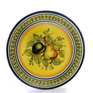 FRUTTA FONDO GIALLO: Tuscan Fruits Wall Plate (12D.) [#X603/C FFG]   Home Decor Accents