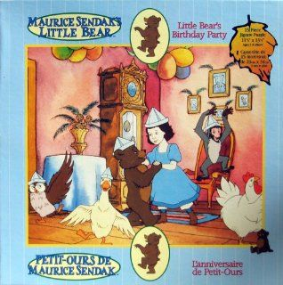 "Maurice Sendak's   LITTLE BEAR   Little Bear's Birthday Party   15 Piece Jigsaw Puzzle   11.5"" x 13.5"": Toys & Games"