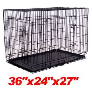 Aosom 2 Door Pet Cage With Divider Dog Crates