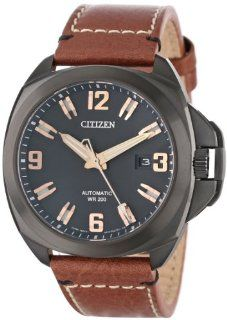 """Citizen Men's NB0075 11F """"Signature Grand Touring"""" Stainless Steel Automatic Watch with Leather Band at  Men's Watch store."""