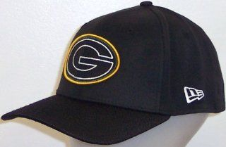 New Era Green Bay Packers Logo Line 39THIRTY Flex Hat   Black Medium/Large M/L: Everything Else