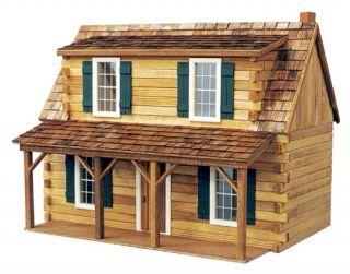 Real Good Toys Adirondack Cabin Kit   1 Inch Scale   Collector Dollhouse Kits