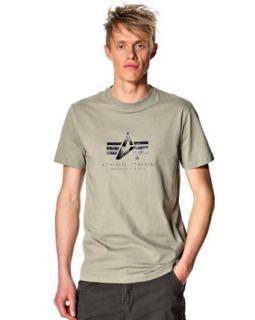 Alpha Industries Men's 'Basic' T shirt Medium Olive at  Men�s Clothing store Fashion T Shirts